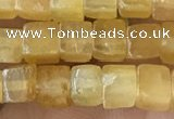 CCU451 15.5 inches 4*4mm cube yellow aventurine beads wholesale