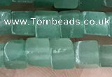 CCU452 15.5 inches 4*4mm cube green aventurine beads wholesale
