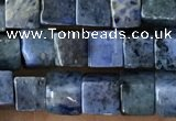 CCU462 15.5 inches 4*4mm cube blue dumortierite beads wholesale