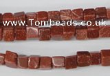 CCU48 15.5 inches 6*6mm cube goldstone beads wholesale