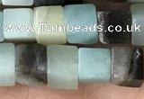CCU486 15.5 inches 6*6mm cube amazonite beads wholesale