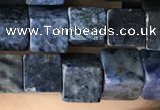 CCU488 15.5 inches 6*6mm cube blue dumortierite beads wholesale