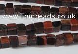 CCU49 15.5 inches 6*6mm cube red tiger eye beads wholesale