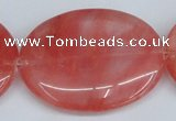 CCY161 15.5 inches 35*45mm oval cherry quartz beads wholesale