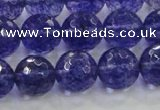 CCY605 15.5 inches 14mm faceted round blue cherry quartz beads