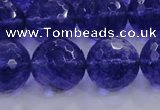 CCY608 15.5 inches 20mm faceted round blue cherry quartz beads