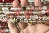CCY632 15.5 inches 8mm round volcano cherry quartz beads wholesale