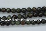 CDB228 15.5 inches 6mm round natural dragon blood jasper beads