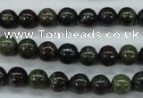 CDB229 15.5 inches 8mm round natural dragon blood jasper beads