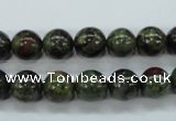 CDB230 15.5 inches 10mm round natural dragon blood jasper beads