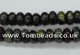 CDB234 15.5 inches 6*10mm rondelle natural dragon blood jasper beads
