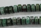 CDB38 15.5 inches 6*10mm tyre new dragon blood jasper beads