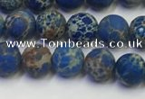 CDE1041 15.5 inches 6mm round matte sea sediment jasper beads