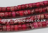 CDE11 15.5 inches 4*6mm cylinder dyed sea sediment jasper beads