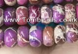 CDE1263 15.5 inches 4*6mm rondelle sea sediment jasper beads