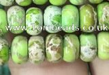 CDE1268 15.5 inches 4*6mm rondelle sea sediment jasper beads