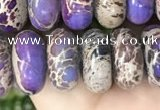 CDE1290 15.5 inches 6*12mm rondelle sea sediment jasper beads