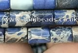 CDE1323 15.5 inches 6*8mm tube sea sediment jasper beads