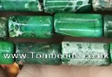 CDE1331 15.5 inches 6*12mm tube sea sediment jasper beads