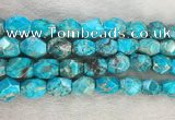 CDE1361 15.5 inches 15*20mm faceted nuggets sediment jasper beads