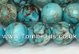 CDE1387 15.5 inches 10mm faceted round sea sediment jasper beads