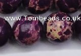 CDE2054 15.5 inches 24mm round dyed sea sediment jasper beads