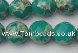 CDE2177 15.5 inches 20mm faceted round dyed sea sediment jasper beads