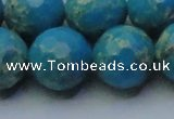 CDE2552 15.5 inches 20mm faceted round dyed sea sediment jasper beads