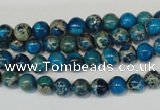 CDE265 15.5 inches 6mm round dyed sea sediment jasper beads