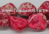 CDE27 15.5 inches 20*25mm nuggets dyed sea sediment jasper beads