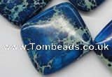 CDE340 15.5 inches 35*35mm diamond dyed sea sediment jasper beads
