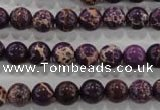 CDE842 15.5 inches 8mm round dyed sea sediment jasper beads wholesale