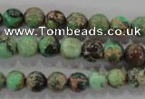 CDE852 15.5 inches 8mm round dyed sea sediment jasper beads wholesale