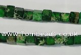 CDE969 15.5 inches 6*6mm cube dyed sea sediment jasper beads