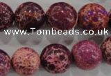 CDI836 15.5 inches 15mm round dyed imperial jasper beads wholesale