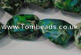 CDI961 15.5 inches 18*20mm nuggets dyed imperial jasper beads