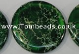 CDI977 15.5 inches 45mm flat round dyed imperial jasper beads
