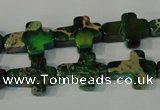 CDI978 15.5 inches 12*16mm cross dyed imperial jasper beads