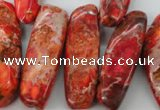 CDI984 15 inches 13*30mm – 16*50mm irregular dyed imperial jasper beads