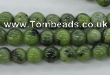 CDJ139 15.5 inches 6mm round Canadian jade beads wholesale