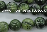 CDJ142 15.5 inches 14mm round Canadian jade beads wholesale