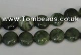 CDJ26 15.5 inches 10mm flat round Canadian jade beads wholesale