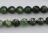 CDJ263 15.5 inches 10mm faceted round Canadian jade beads wholesale