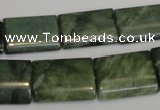 CDJ34 15.5 inches 13*18mm flat tube Canadian jade beads wholesale