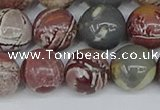 CDJ404 15.5 inches 12mm round sonoran dendritic jasper beads