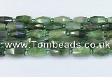 CDJ412 15.5 inches 8*14 – 9*14mm faceted freeform Canadian jade beads