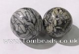 CDN1296 40mm round jasper decorations wholesale