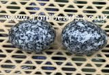 CDN348 35*50mm egg-shaped snowflake obsidian decorations wholesale