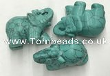 CDN417 25*50*35mm elephant imitation turquoise decorations wholesale