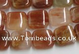 CDQ16 15.5 inches 10*10mm square natural red quartz beads wholesale